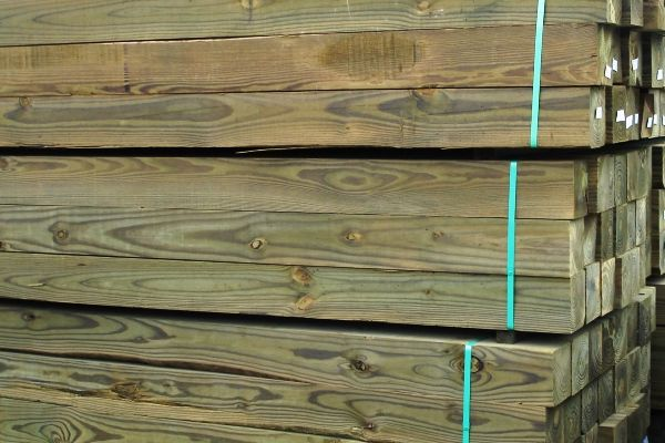 Wood timbers and railroad ties for retaining walls and hardscaping/